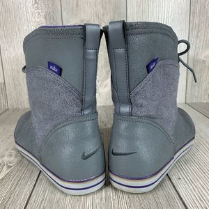 Nike Shoes - Nike Carico Mid Leather Grey Purple Shoe Size 8.5